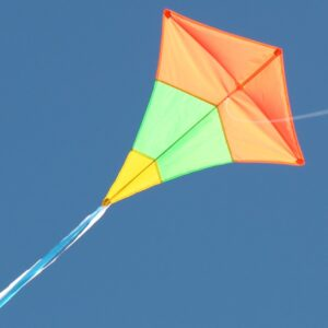 Diamond Tricolour single string kids kite. Australian made and supplied by Windspeed Kites