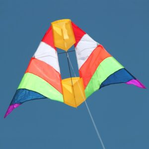 Rainbow Cell Australian made kite available in toy stores and hobby stores supplied by Windspeed Kites wholesale