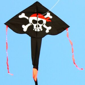 Pirate delta kite for kids, part of toy and hobby store range from Windspeed Kites wholesale