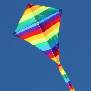 Rainbow Diamond kids kite supplied to toy and hobby shops by Windspeed Kites