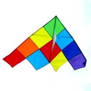 Patchwork Delta single string kite from Australian kite wholesaler