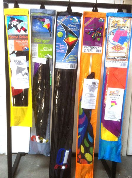 Windspeed Kites wholesaler showing kite packaging